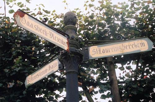 Sint-Pieterd-Leeuw Molenborrestraat zonder nummer wegwijzer