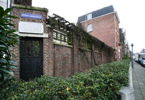Antwerpen Arthur Goemaerelei Ommuurde open ruimte