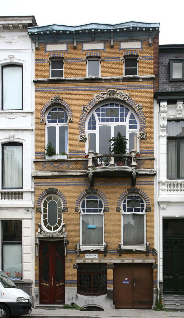 Burgerhuis in art nouveaustijl erfgoedobjecten inventaris onroerend erfgoed - Deco buitenkant huis ...