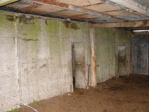 Vladslo: Duitse betonnen constructie Houtlandstr 6: Achterkant