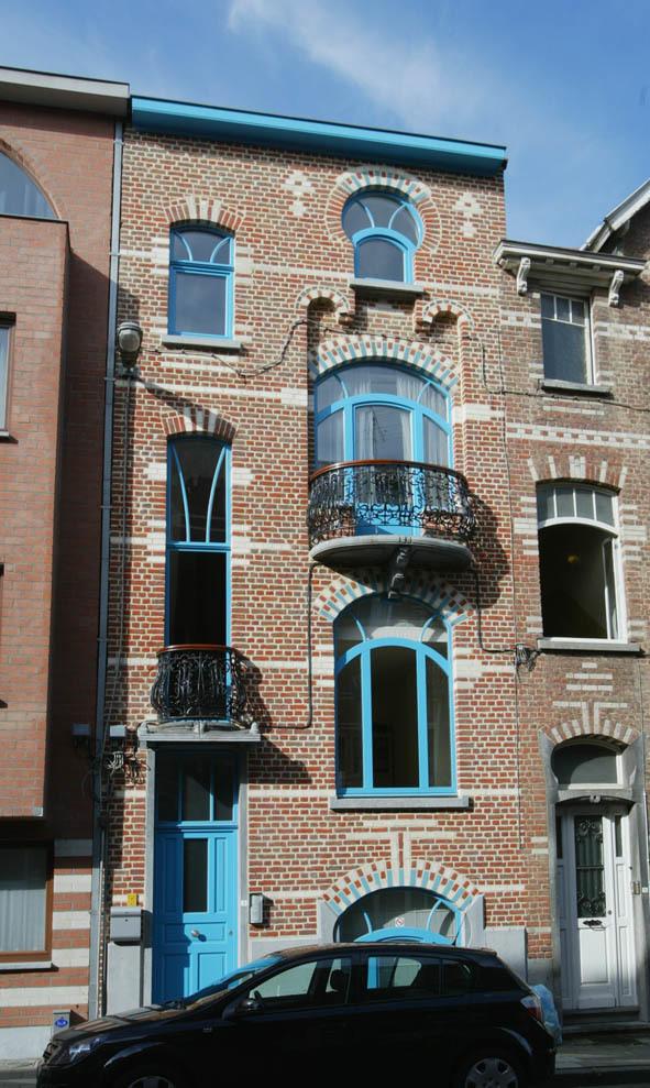Burgerhuis in art nouveau erfgoedobjecten inventaris onroerend erfgoed - Deco huizen ...