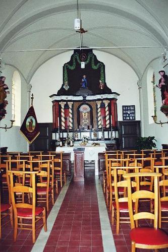Waasmunster Rodendries zonder nummer Interieur van de Sint-Antoniuskapel