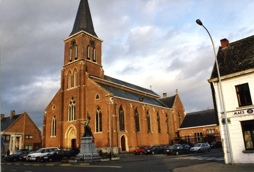 Berlare Baron Tibbautstraat kerk