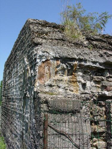 Keiem: Duitse commandopost Leiemolenstraat 29: zijkant