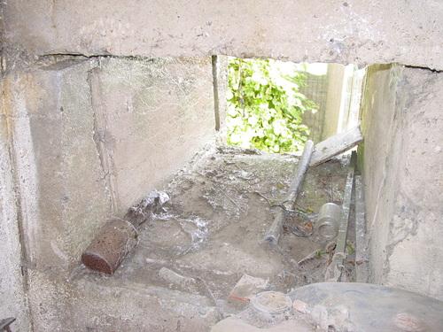 Keiem: Duitse commandopost Leiemolenstraat 29: vensteropening