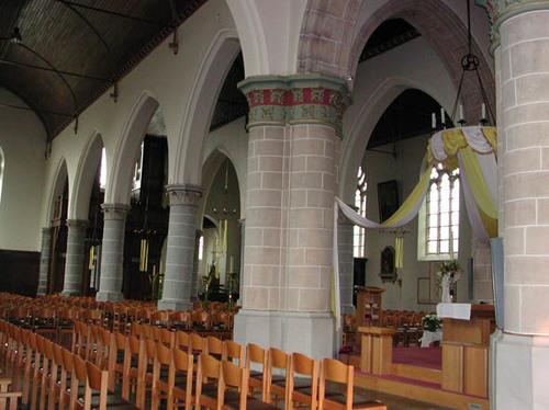 Wevelgem Sint-Maartensplein 10 Interieur van de kerk