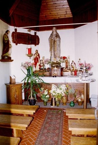 Wichelen Krakeelstraat zonder nummer Interieur van de kapel