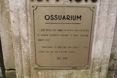 Ossuarium: gedenkplaat