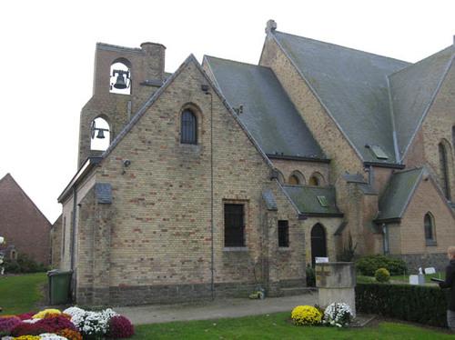 Koekelare Ommegangstraat zonder nummer parochiekerk van De Mokker