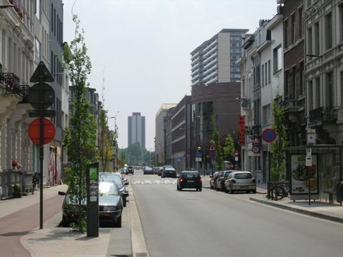 Antwerpen Montignystraat  Straatbeeld