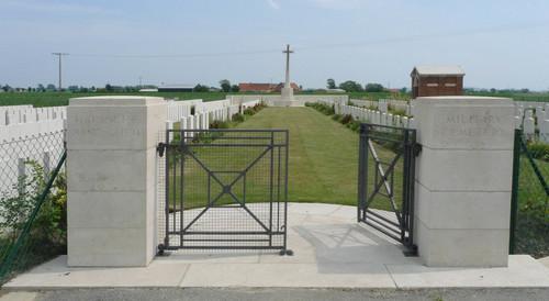 Poperinge Nachtegaalstraat zonder nummer Britse militaire begraafplaats