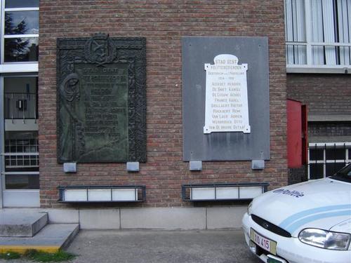 Gent Antonius Triestlaan 12 Oorlogsmonument politie