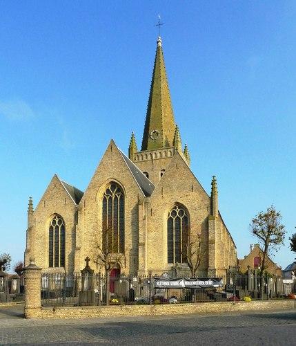 Vleteren Oostvleterendorp zonder nummer  parochiekerk Sint-Amatus