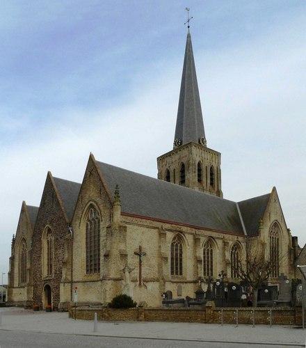 Vleteren Westvleterendorp zonder nummer parochiekerk Sint-Martinus
