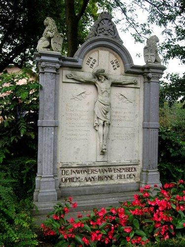 Wezembeek-Oppem Louis Marcelislaan zonder nummer oorlogsgedenteken