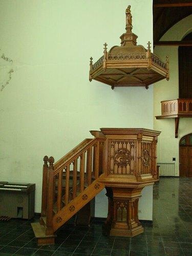 Kaaskerke: Kerk: Kansel Waucquez