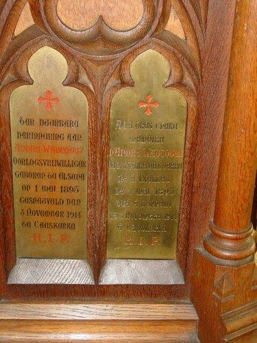 Kaaskerke: Kerk: Kansel Waucquez: detail