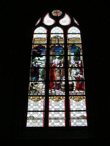 Pervijze: Kerk: Glasraam De Ridder