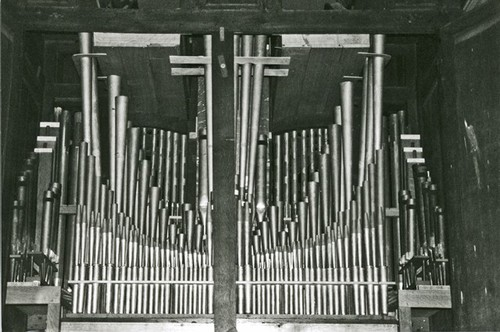 Dentergem binnenwerk van het orgel van de Heilige Martinuskerk