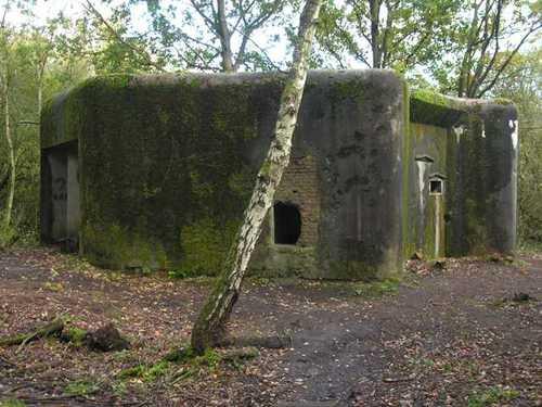 Drie bunkers aan de sluis van het Albertkanaal