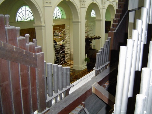 Harelbeke Sint-Salvatorkerk doksaalorgel