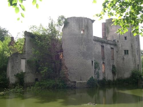 Het Prinsenkasteel, een geconsolideerde ruïne in een herstelde slotgracht