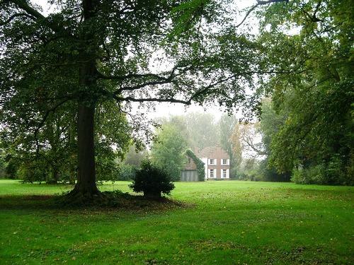 Kaashof vanuit het park