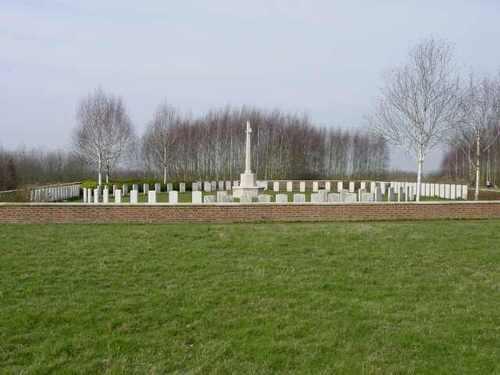Zillebeke: Hedge Row Trench Cemetery: overzichtsfoto