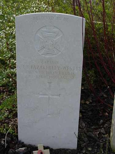 Zillebeke: 1st DCLI Cemetery: special memorial Westby