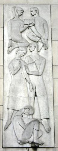 Antwerpen Schijfstraat 105 bas-reliëf