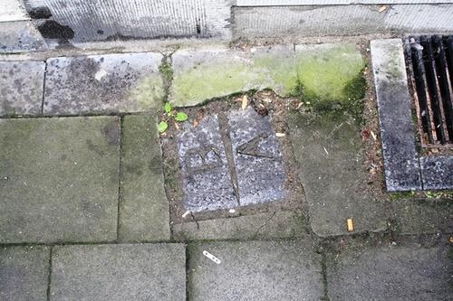 Antwerpen Milisstraat  48-50 grenssteen