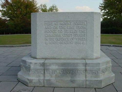 Zillebeke: Hill 62: Canadees gedenkteken: detail