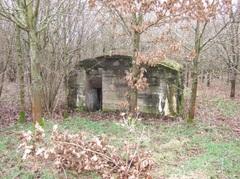 Duitse bunker munitiedepot