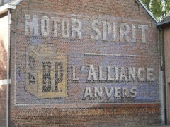 Reclameschildering BP Motor Spirit - l'Alliance Anvers