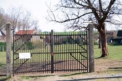 Barrier van een boomgaard