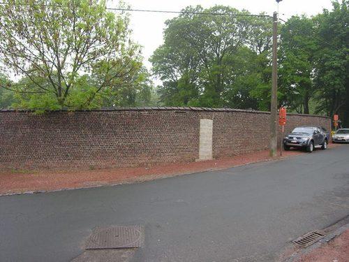 Zaventem Groenstraat noordzijde: parkmuur