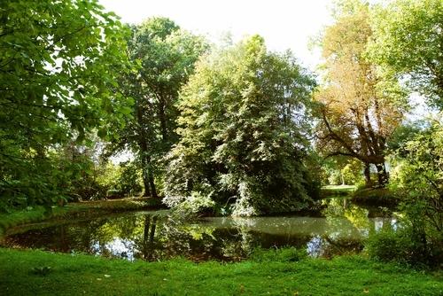 Landschappelijke tuin bij de voormalige pastorie van het begijnhof van Diest