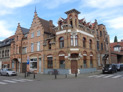 Gent Bloemistenstraat 40-44, Achterstraat 79-81