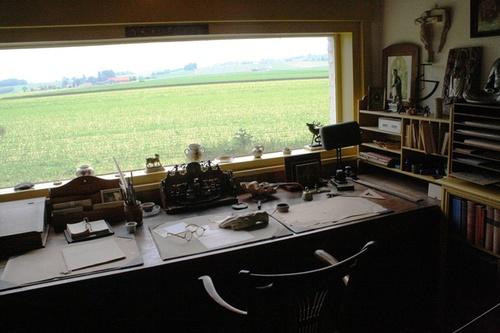 Anzegem Ingooigem Stijn Streuvelsstraat 25 werkkamer met panoramisch venster