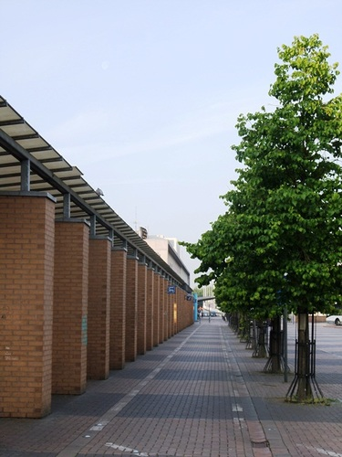 Mechelen Koning Albertplein Station, gaanderij
