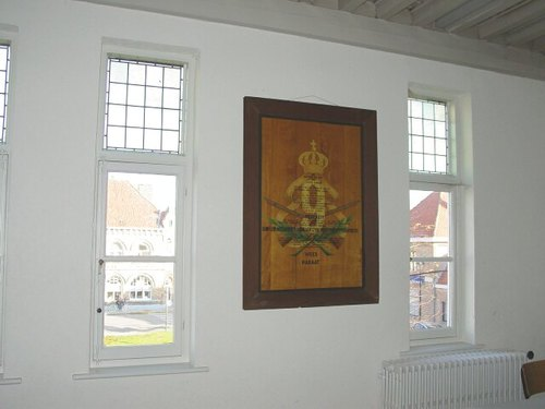 Merkem Kouterstraat 26 Gemeentehuis Gedenkplaat 9de Linie