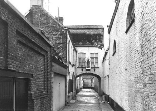 Gent Turrepoortsteeg straatbeeld