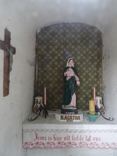 Berlare Warande zonder nummer Interieur van de kapel Heilige Rochus en Heilige Agatha