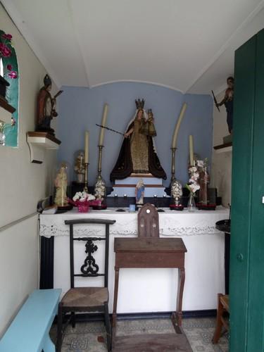 Zele Heikant zonder nummer Interieur van de Onze-Lieve-Vrouw ter Nood Godskapel
