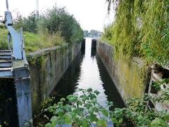 Sluis nummer 8 op het kanaal Bossuit-Kortrijk