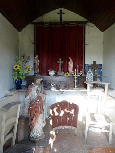 Wetteren Kortewagenstraat 50 Interieur van de Heilig Hartkapel