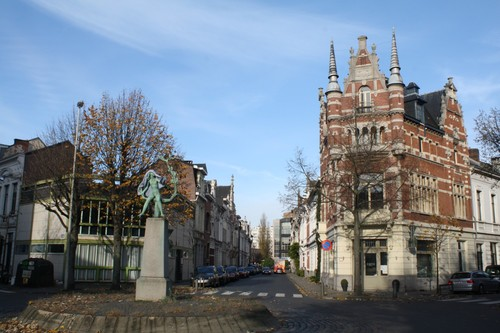 Antwerpen Door Verstraetenplaats zicht op Wolfstraat
