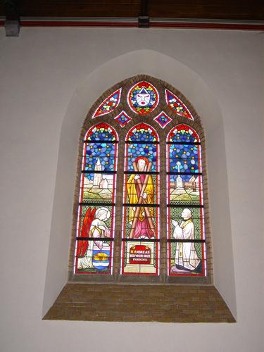 Bikschote: Kerk: Glasraam: Andreas