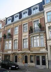 Gekoppelde burgerhuizen in beaux-artsstijl