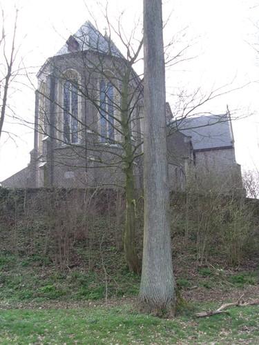 Oudenaarde Melden kerk op voormalige motte